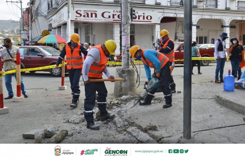 Inician lo trabajos de mejoramiento urbano en el centro de la ciudad